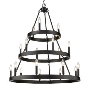 Alastair Matte Black 18-Light Chandelier
