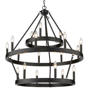 Alastair Matte Black 32-Inch 18-Light Chandelier