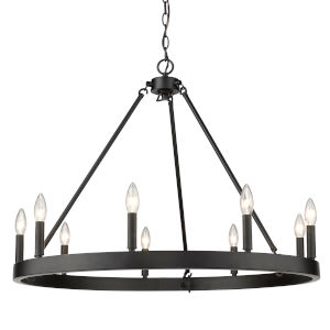 Alastair Matte Black 32-Inch Nine-Light Chandelier
