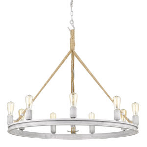 Chatham Gray Driftwood Nine-Light Chandelier