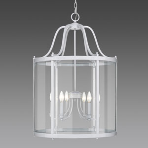 Payton White Six-Light Pendant