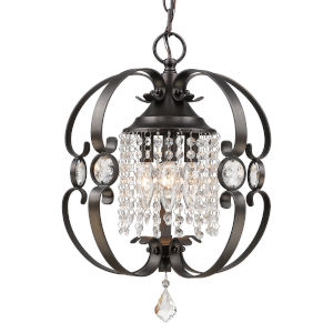Ella Brushed Etruscan Bronze Three-Light Chandelier