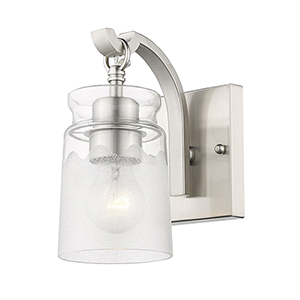Tribeca Pewter Eight-Inch One-Light Bath Wall Sconce