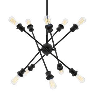 Axel Matte Black Five-Inch 10-Light Mini Chandelier