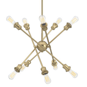 Axel Olympic Gold Five-Inch 10-Light Mini Chandelier