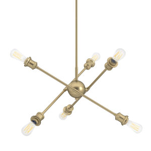 Axel Olympic Gold Four-Inch Six-Light Mini Chandelier