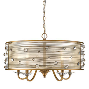 Joia Peruvian Gold Five-Light Chandelier