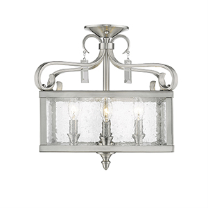 Valencia Pewter Four-Light Semi-Flush Mount