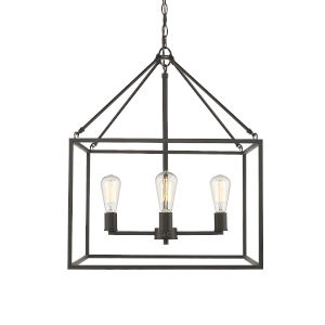 Wesson Rubbed Bronze Four-Light Chandelier