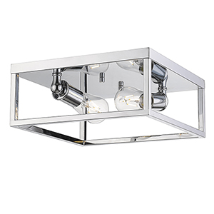 Wesson Chrome Two-Light Flush Mount