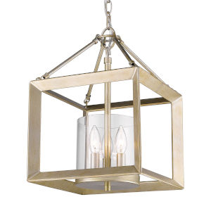 Smyth White Gold Three-Light Chandelier
