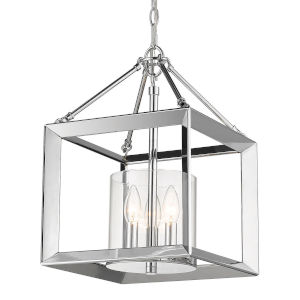 Smyth Chrome Clear Glass 12-Inch Three-Light Pendant