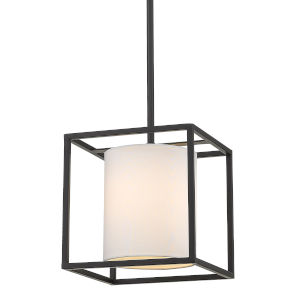 Manhattan Matte Black One-Light Mini Pendant
