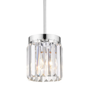 Paris Chrome Six-Inch One-Light Mini Pendant
