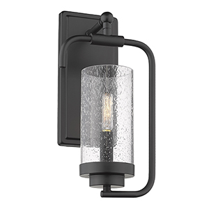 Holden Black One-Light Wall Sconce