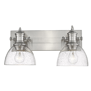 Hines Pewter 17-Inch Two-Light Bath Vanity