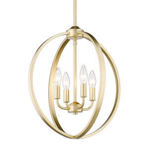 Colson Olympic Gold 17-Inch Four-Light Chandelier