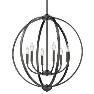 Colson Matte Black 26-Inch Six-Light Chandelier