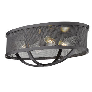 Colson Matte Black 24-Inch Four-Light Flush Mount