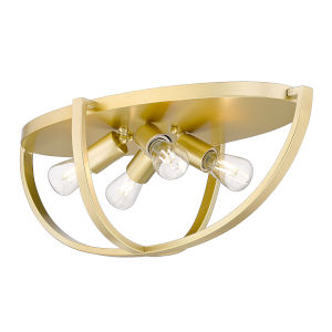 Colson Olympic Gold 23-Inch Four-Light Flush Mount