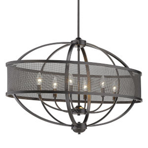 Colson Matte Black 36-Inch Six-Light Linear Pendant