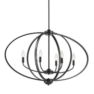 Colson Matte Black 35-Inch Six-Light Linear Pendant