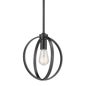Colson Matte Black 10-Inch One-Light Mini Pendant
