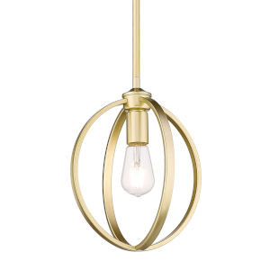Colson Olympic Gold 10-Inch One-Light Mini Pendant with Matte Black shade