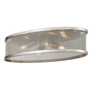 Channing Pewter Four-Light Flush Mount