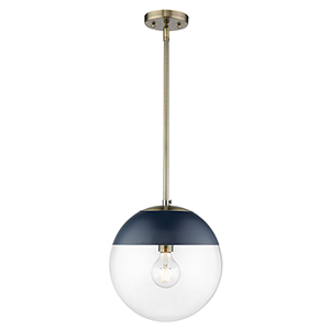 Dixon Aged Brass 11-Inch One-Light Pendant