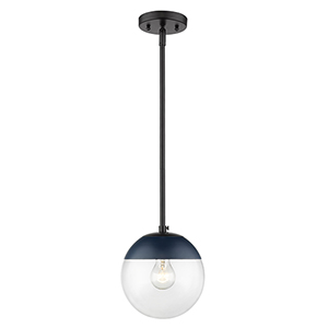 Dixon Black and Navy Seven-Inch One-Light Mini Pendant