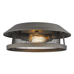 Parsons Gunmetal Bronze Two-Light Flush Mount