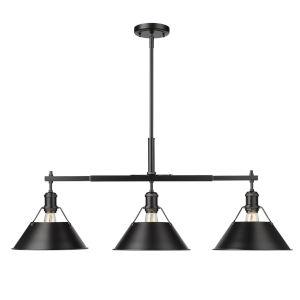 Orwell Matte Black 36-Inch Three-Light Linear Pendant