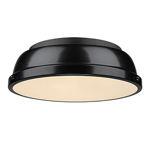 Duncan Black 14-Inch Two-Light Flush Mount