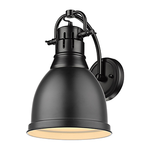 Duncan Matte Black Eight-Inch One-Light Wall Sconce