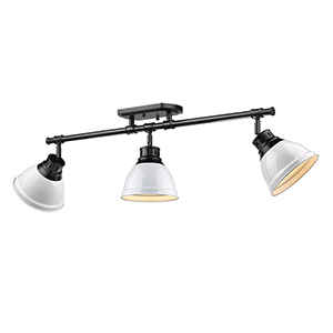 Duncan Black and White 35-Inch Three-Light Track Light