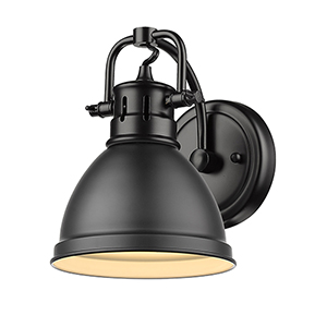 Duncan Matte Black Six-Inch One-Light Bath Wall Sconce