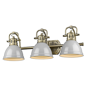 Duncan Aged Brass 24-Inch Three-Light Bath Vanity