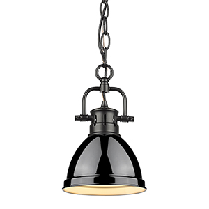Duncan Black 10-Inch One-Light Mini Pendant
