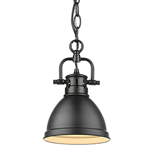Duncan Matte Black 10-Inch One-Light Mini Pendant