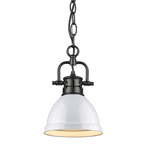 Duncan Black and White 10-Inch One-Light Mini Pendant