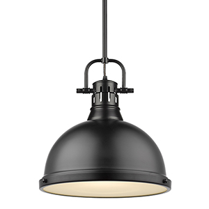 Duncan MatteBlack 14-Inch One-Light Pendant