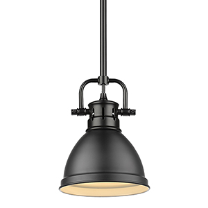 Duncan Matte Black Eight-Inch One-Light Mini Pendant