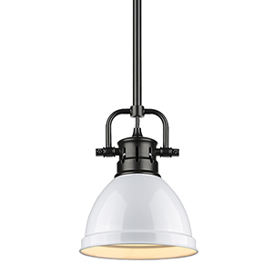 Duncan Black and White Eight-Inch One-Light Mini Pendant