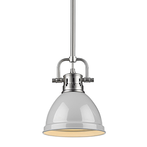 Duncan Pewter and Grey Eight-Inch One-Light Mini Pendant