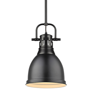 Duncan Matte Black 14-Inch One-Light Mini Pendant