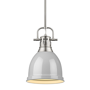 Duncan Pewter and Grey 14-Inch One-Light Mini Pendant