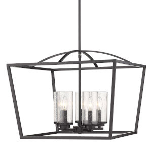 Mercer Matte Black 22-Inch Five-Light Chandelier