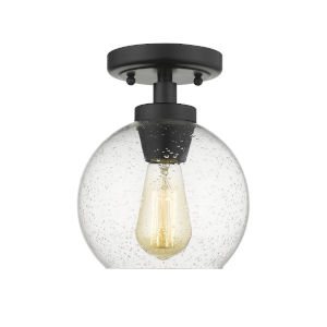 Galveston Black One-Light Flush Mount