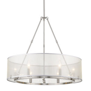 Alyssa Pewter Six-Light Chandelier